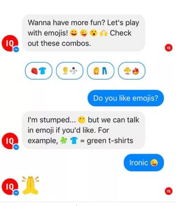 Facebook chatbot examples: Uniqlo 1