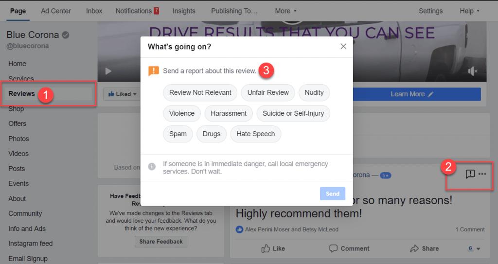 hide reviews on facebook: hide bad reviews