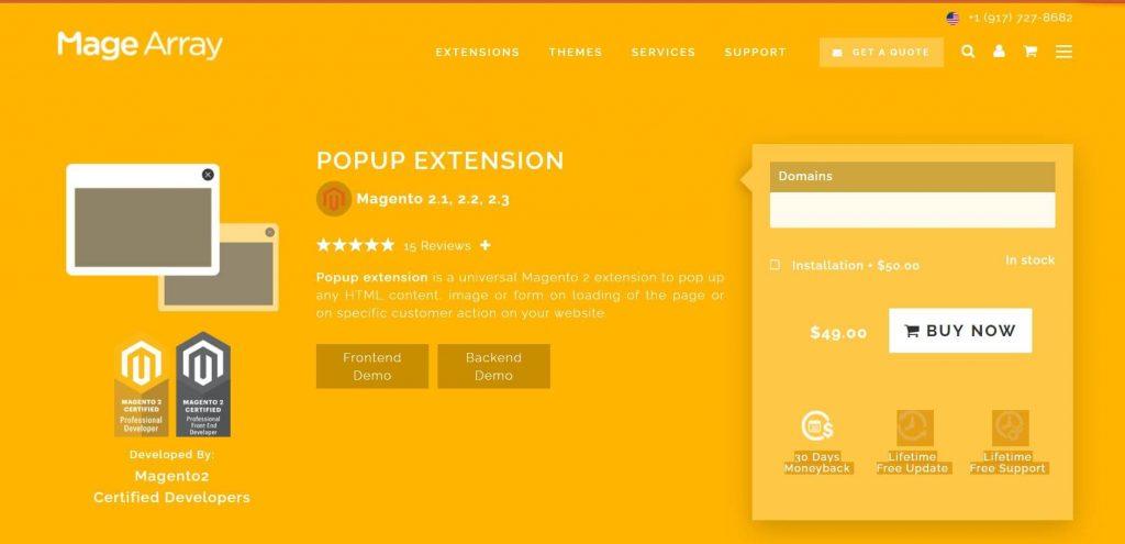 The best Magento 2 popup: Magearraypopup