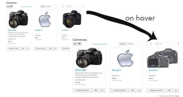 image hover for magento