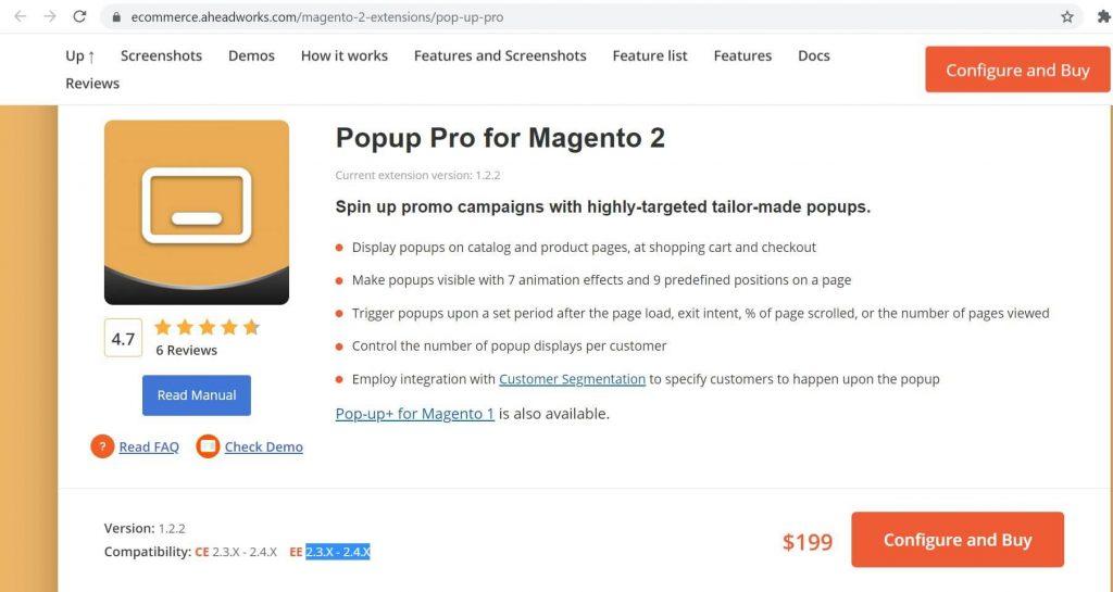 The best Magento 2 popup: Aheadworks popup
