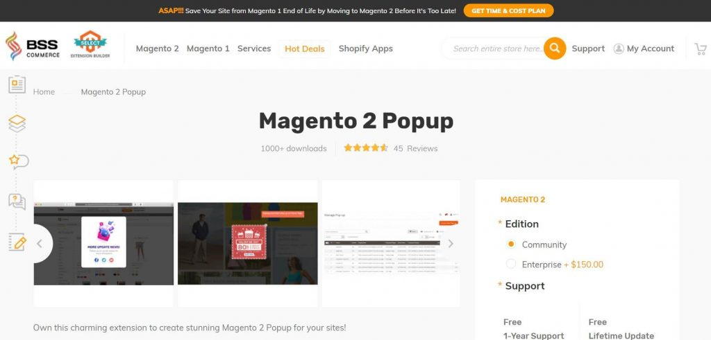 The best Magento 2 popup: bsscommerce popup