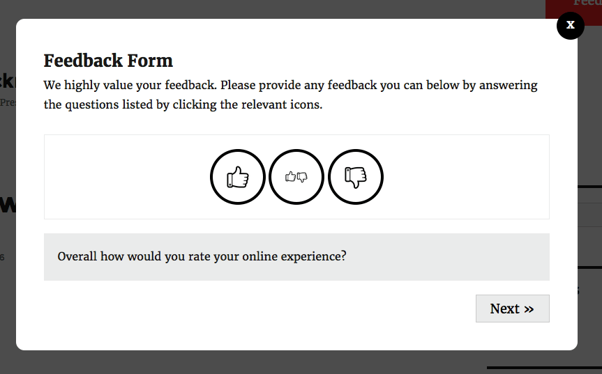 Why care about a popup: Feedback form