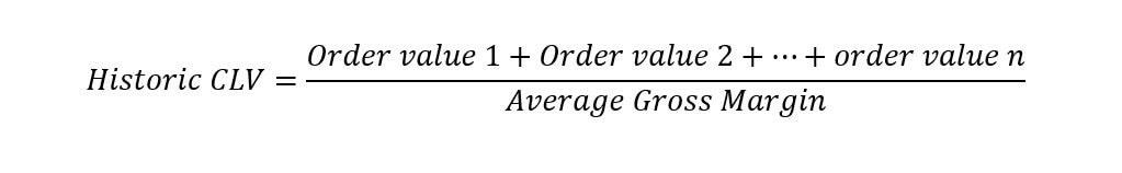 Customer lifetime value: calculation