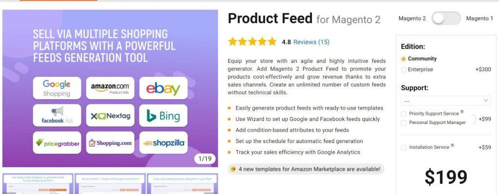 Magento 2 Google Shopping Feed: Amasty 2