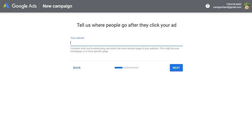 Steps to create Google shopping campaigns: Log in