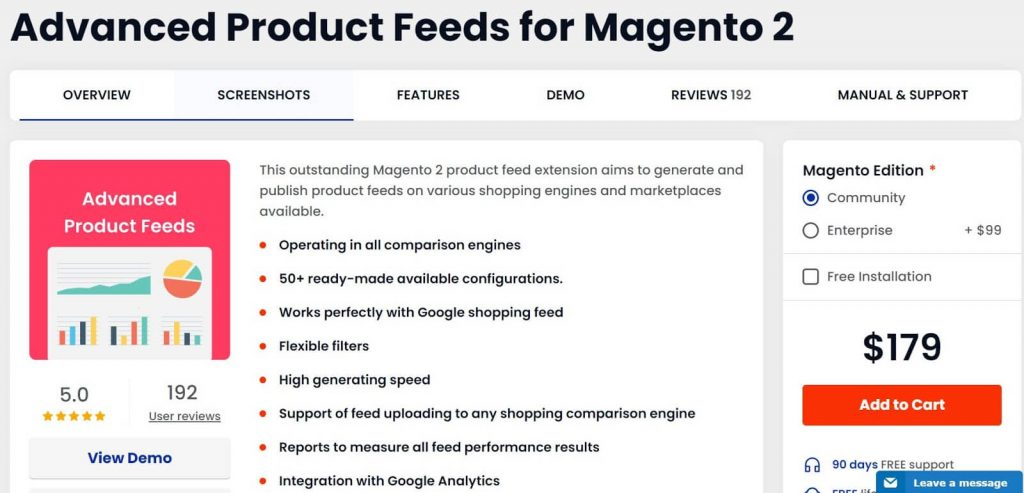 Magento 2 Google Shopping Feed: Mirasvit