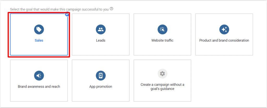 Steps to create Google shopping campaigns: create campaign 2
