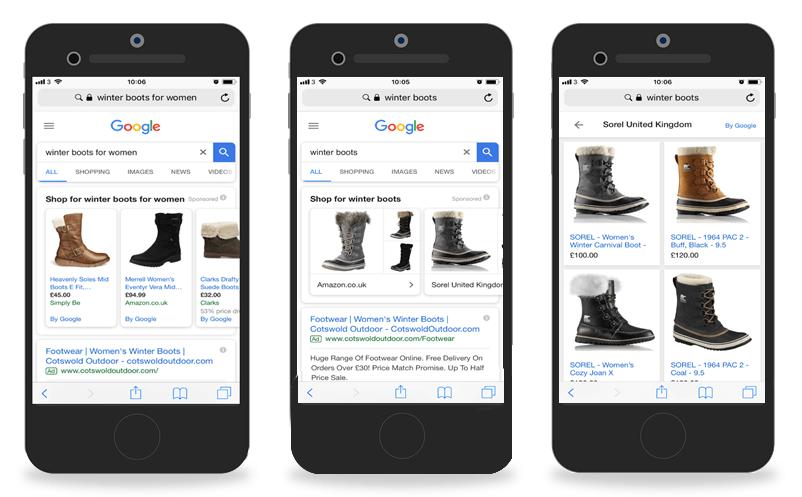 Google Shopping campaign: showcase shopping ad
