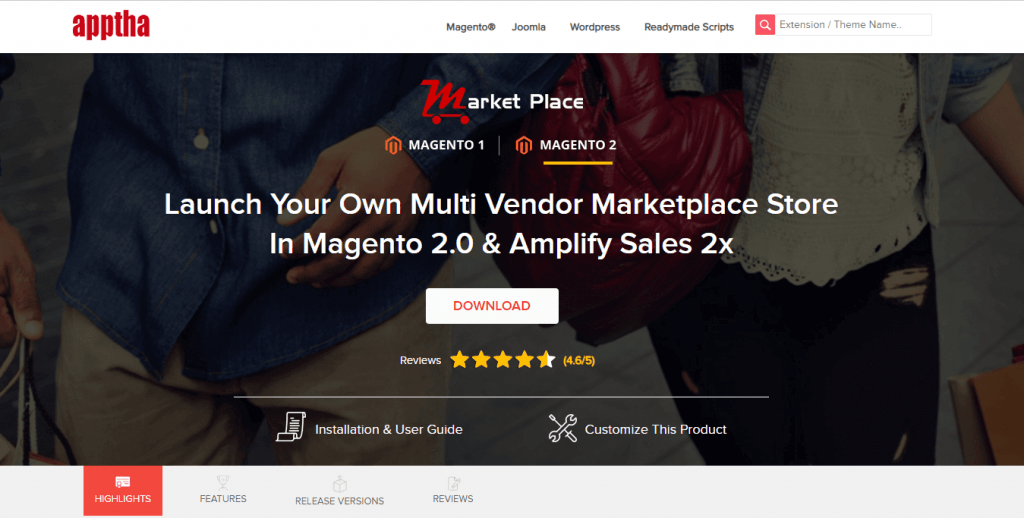 Magento Marketplace Multi-Vendor by Apptha