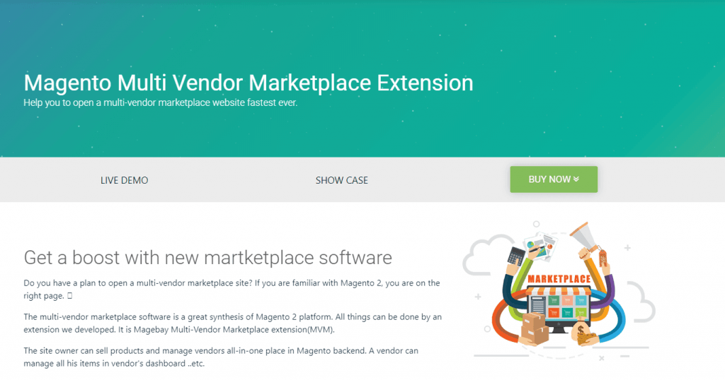Magento Marketplace Multi-Vendor by Magebay