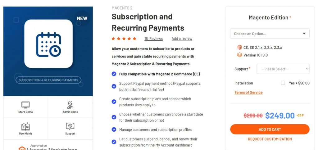 Best Magento subscription extensions: Magenest