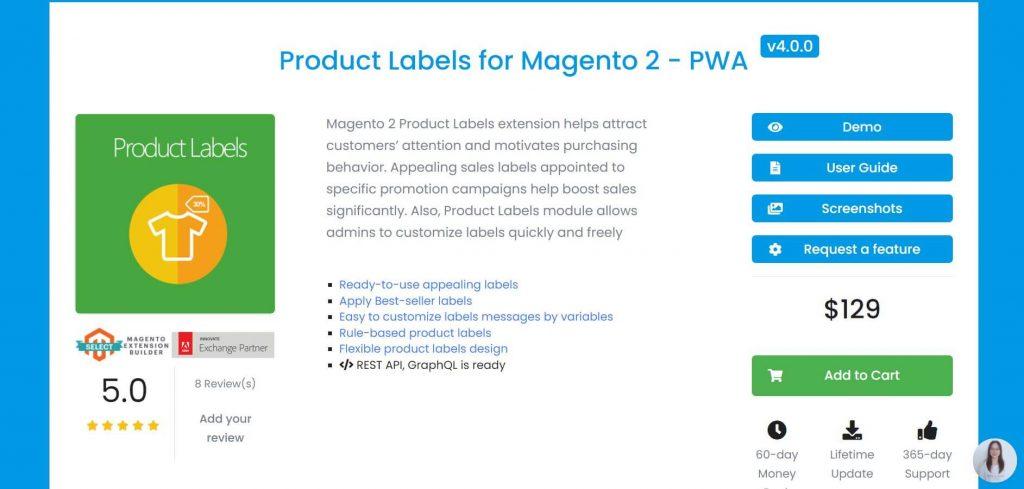 Magento 2 Product Label: Mageplaza