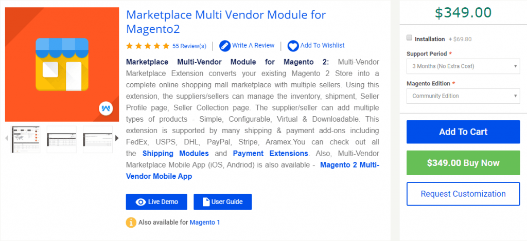 Magento Marketplace Multi-Vendor by Webkul