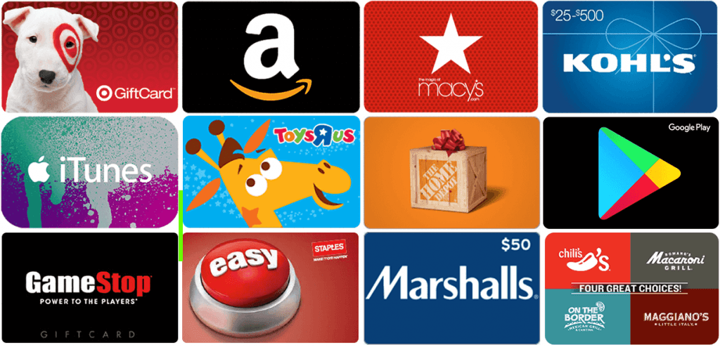 Gift Card Facts: Big brands' gift cards
