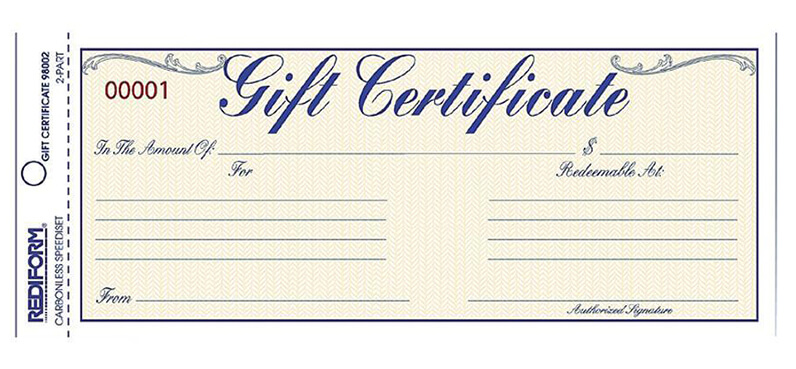 Gift Card History: Gift Certificate