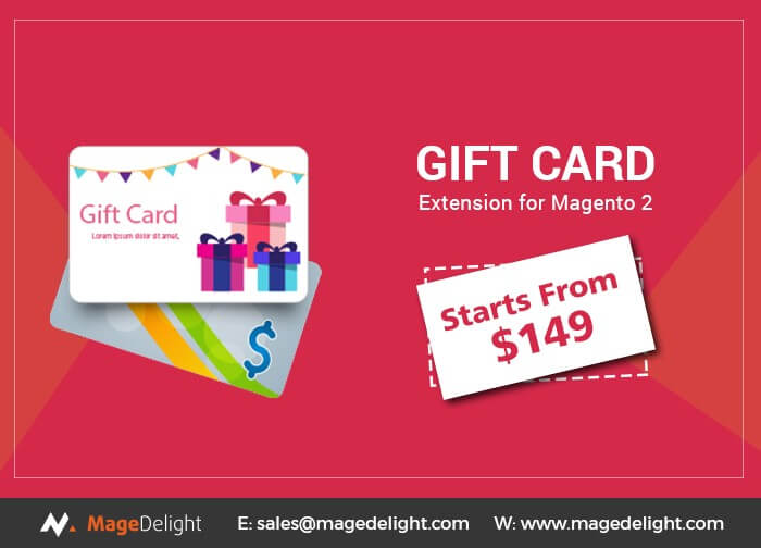 Top 10 Gift Card extension: Magedelight