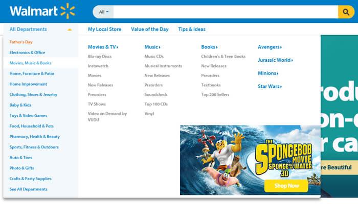 mega menu examples