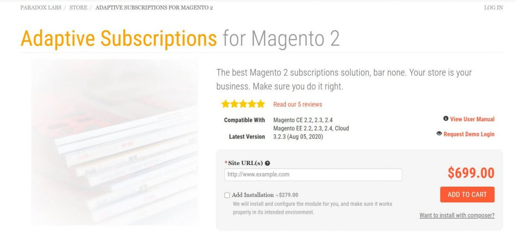Best Magento subscription extensions: Paradoxlabs