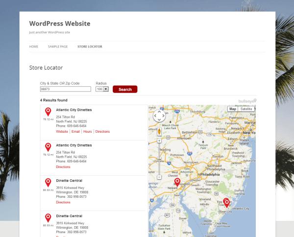 store locator: detailed list