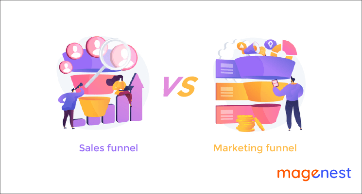 Sales funnel vs Marketing funnel: What's the difference?