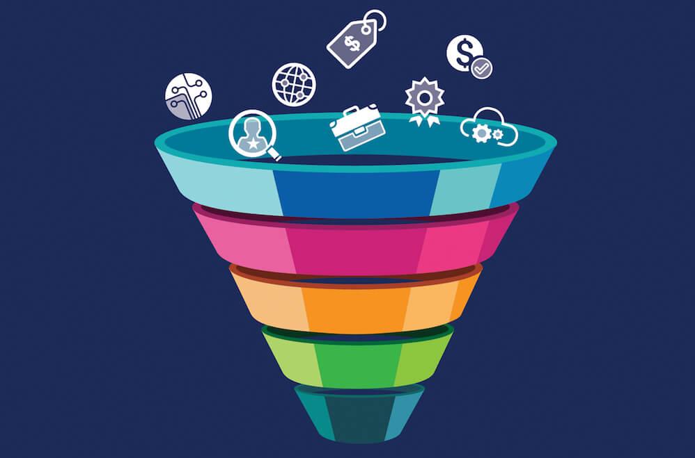 steps of sales funnel building