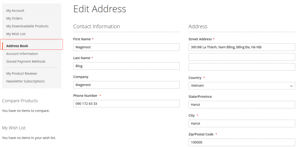 Input your default shipping address