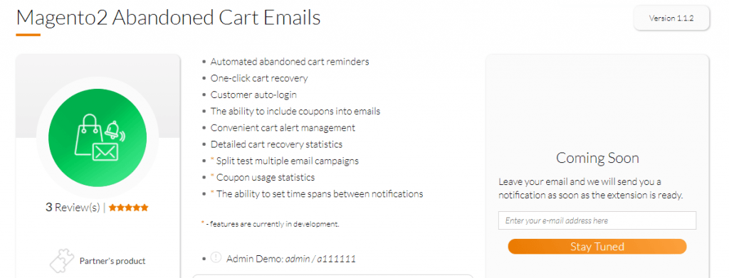 Magento 2 abandoned cart email extension by Mageworx
