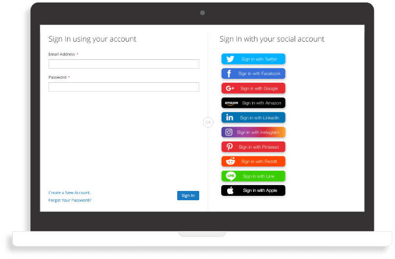 Social login eCommerce: easier registration