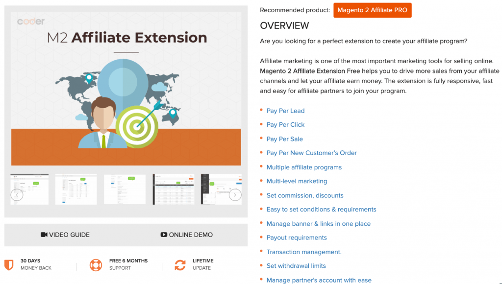 Magento 2 Affiliate extensions by M2