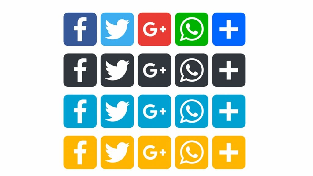 Social sharing icons commonly appear on your posts