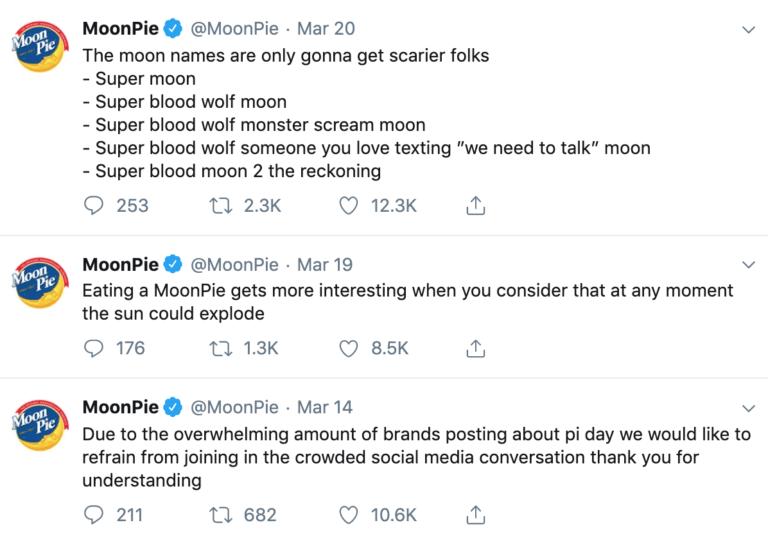 Humorous content by MoonPie