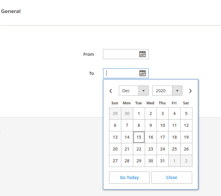 Date Selection Fields in Magento 2 UI Component