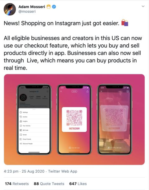 Instagram Checkout for all eligible businesses and creators