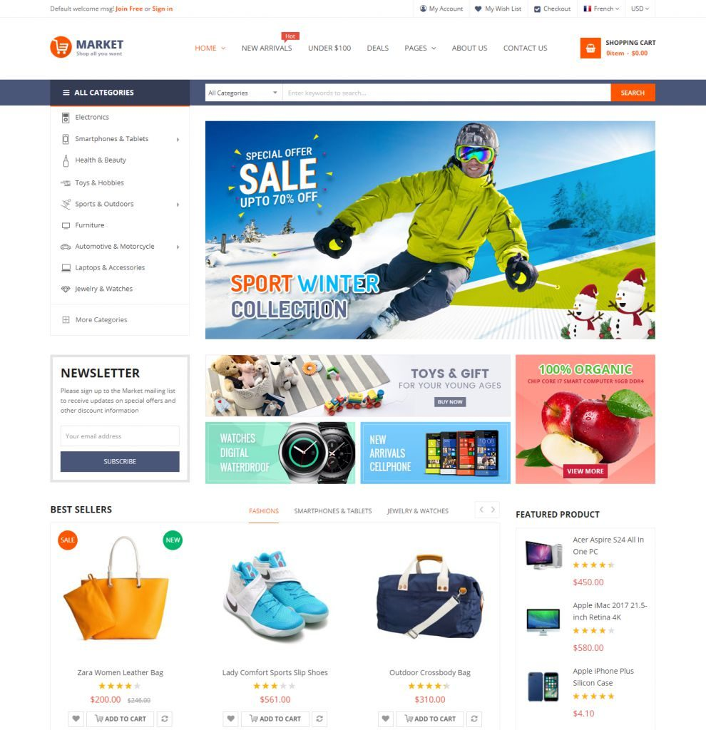 Market - Premium Responsive Magento 2