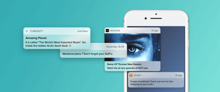 web push notifications best practices:  examples of web push notifications