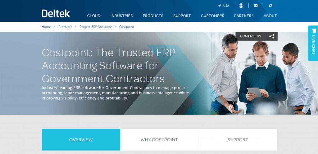 top 5 ERP system - Deltek