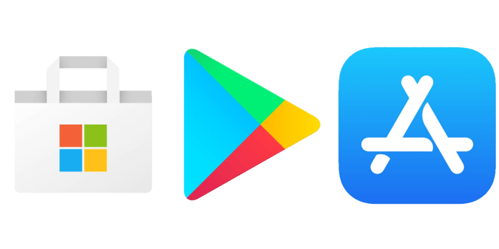 App store and Google store
