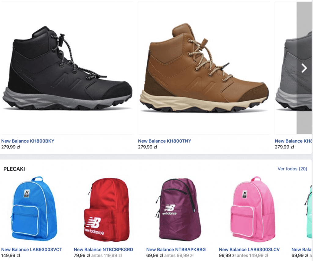 New Balance makes it possible for users to shop with Facebook Store