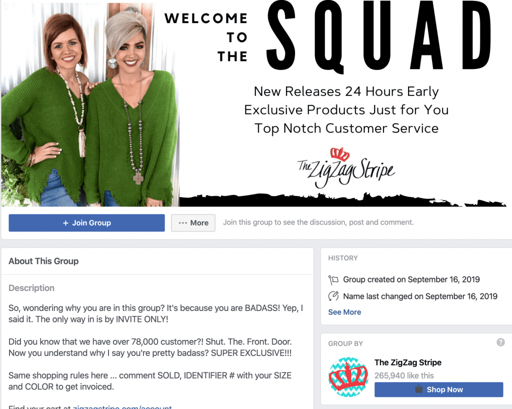 Facebook Group - the ZigZag Stripe