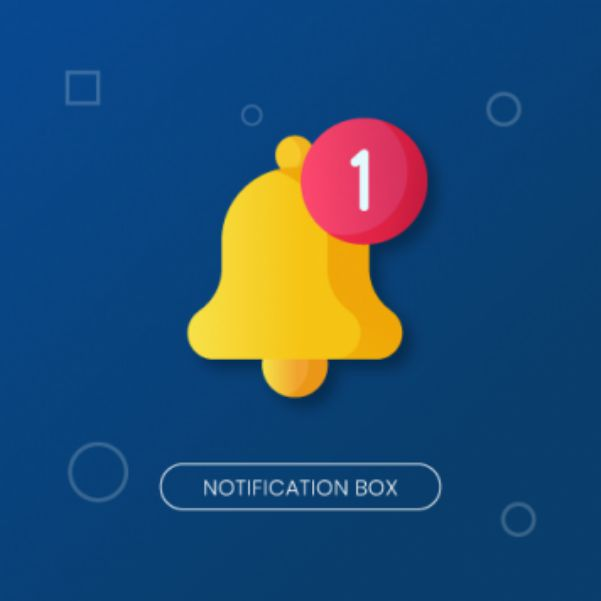 Website promotion: Notification Box