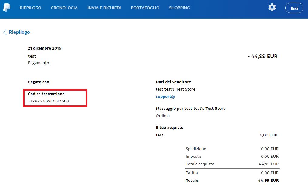 PayPal Transaction ID
