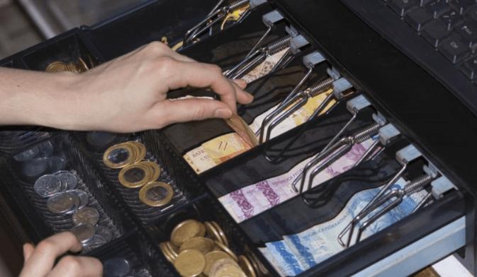 A cash drawer