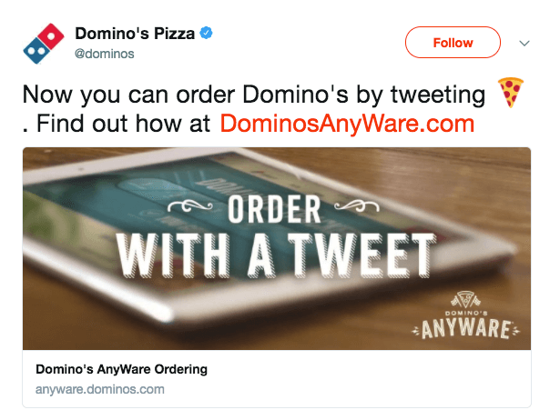 Order pizzas with Domino's bots