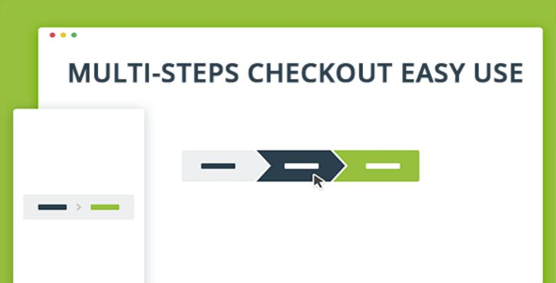 Multistep checkout on the market
