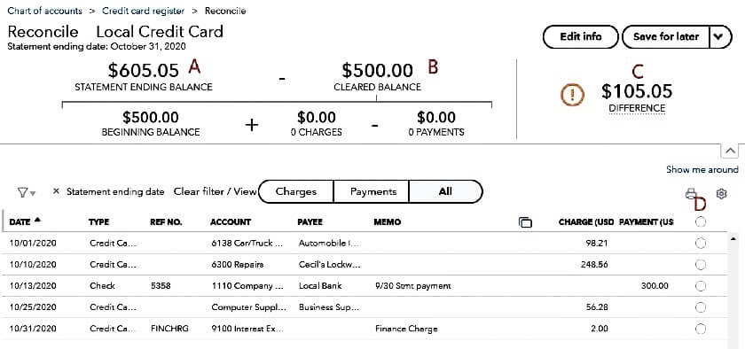 Match Credit Card Transactions
