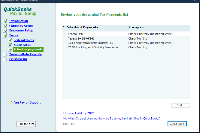 Scheduled Payments
