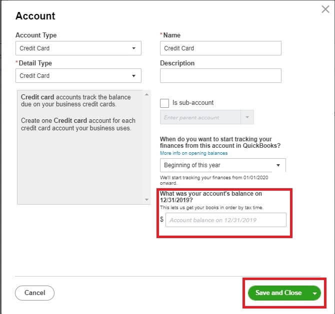 your account's balance