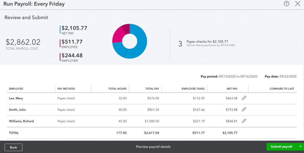 Preview Payroll