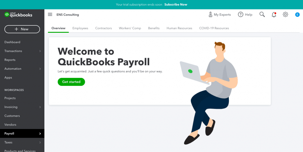 Sign Up for Payroll
